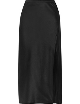 Dolly Silk Satin Midi Skirt by Anine Bing