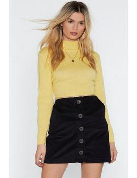 Under Mock Cropped Sweater by Nasty Gal
