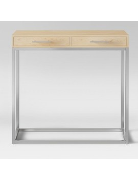 Maison Console Table Chrome Wood   Project 62™ by Shop This Collection