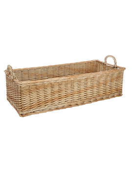 Croft Collection Willow Shallow Basket by Croft Collection