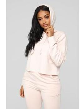 Going With The Flow Hoodie   Blush by Fashion Nova