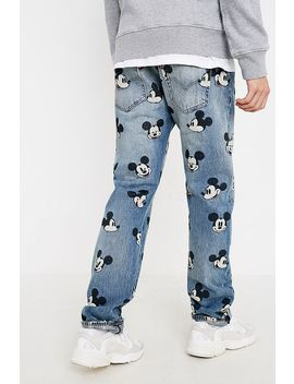 Levi's Mickey Mouse Allover Print Light Blue Jeans by Levi's