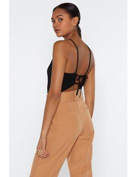 Tie There Square Neck Bodysuit by Nasty Gal