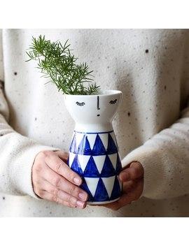Japanese Porcelain Doll Ceramic Flower Vase Living Room Cute Wedding Home Decoration Tabletop Handmade Vase by Wave Risk