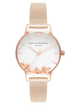 Busy Bees Mesh Strap Watch, 30mm by Olivia Burton