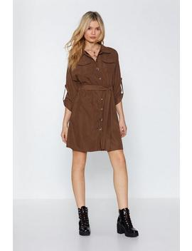 Tie As You May Utility Dress by Nasty Gal