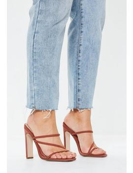 Tan Multi Strap Mules by Missguided