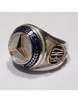 Mercedes Benz Logo Ring Solid 925 K Sterling Silver  Mens Ring by Ebay Seller