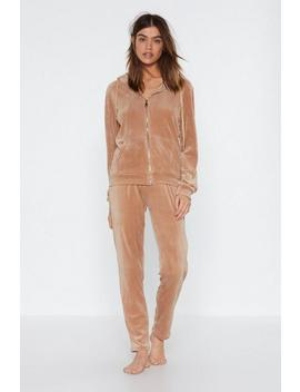 On Track Jacket And Jogger Pants by Nasty Gal