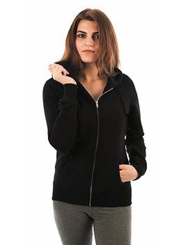 Forbidefense Women Fleece Hoodies Full Sleeve Front Zip Premium Hood 2 Kangaroo Split Pocket by Forbidefense