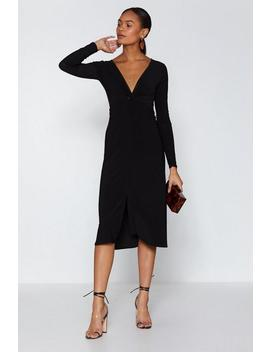 So Twisted Midi Dress by Nasty Gal