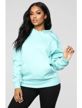Stole Your Man's Oversize Hoodie   Turquoise by Fashion Nova