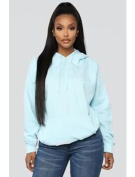 Stole Your Boyfriend's Oversized Hoodie   Light Blue by Fashion Nova