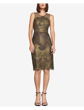 Metallic Lace Sheath Dress by Bcbgmaxazria