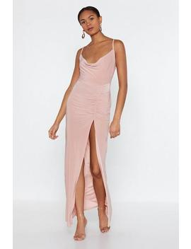 Cowl Dare You Maxi Dress by Nasty Gal