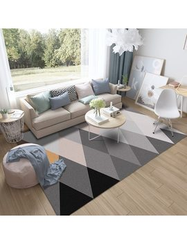 Modern Geometric Home Carpet Super Soft Living Room Bedroom Rugs And Carpets Rectangle Large Size Anti Slip Floor Mats by Yushimei