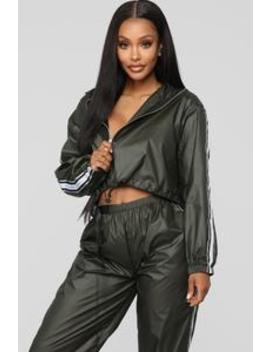Matte Movement Jacket   Olive by Fashion Nova