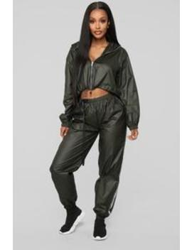 Matte Movement Jogger   Olive by Fashion Nova