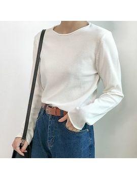 Monroll   Long Sleeve Crewneck T Shirt by Monroll