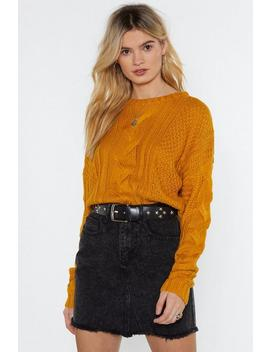 Knit Must Be Love Cable Sweater by Nasty Gal
