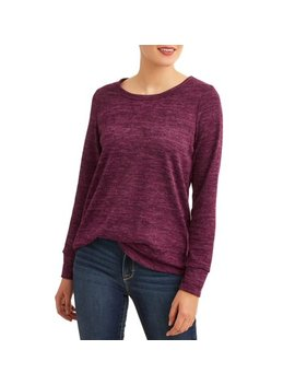 Women's Super Soft Marled Long Sleeve T Shirt by Attitude Unknown