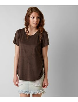 Faux Suede Top by Gimmicks