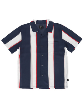 Big Stripe Shirt Navy by Stussy