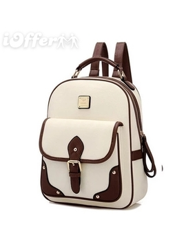 Women's Pu Leather Backpack Shoulder Bag by I Offer