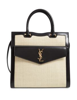 Medium Uptown Cabas Satchel by Saint Laurent