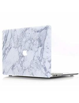 Hard Case For 2016/2017/2018 New Mac Book Pro 15 Inch Model A1707/A1990, Aqylq Matte Plastic Rubber Coated Protective Shell Cover, Dll 21 White Marble by Aqylq