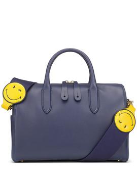 Wink Indigo Leather Grab Bag by Anya Hidmarch