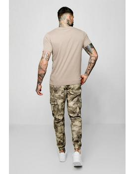 Blurred Camo Print Cargo Trouser by Boohoo