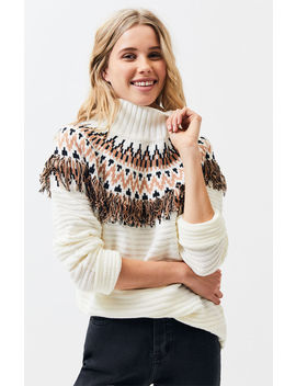 Mink Pink Wild & Free Fringe Sweater by Pacsun
