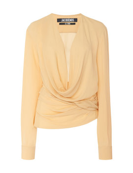 Draped Jersey Blouse by Jacquemus