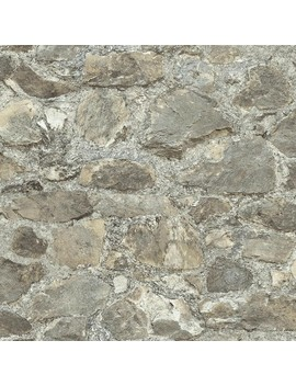 Weathered Stone Peel & Stick Wallpaper Gray   Room Mates by Room Mates
