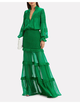 Sinclair Ruffle Gown by Alexis