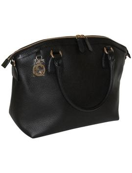 Dome Womens Large Gg Logo Hardware Crossbody Purse Black Leather Tote by Gucci
