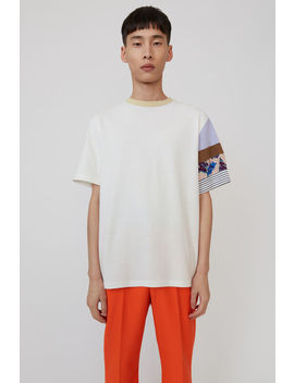 Printed Sleeve T Shirt Off White by Acne Studios