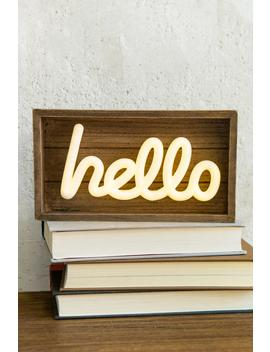 Hello Led Sign by Francesca's