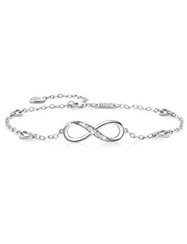 Billie Bijoux Womens 925 Sterling Silver Infinity Anklet Bracelet Endless Love Symbol Charm Adjustable Large Bracelet, Gift For Women Valentine's Day by Billie Bijoux