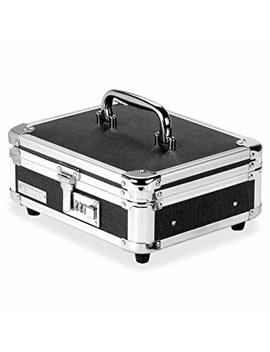 Vaultz Locking Cash Box, Black/Chrome (Vz01002) by Vaultz