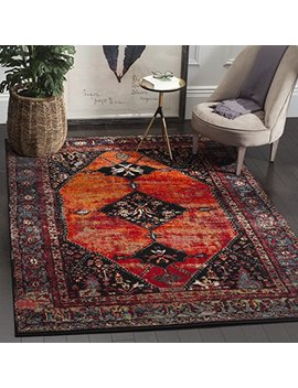 Safavieh Vintage Hamadan Collection Vth217 B Oriental Antiqued Orange And Multi Area Rug (4' X 6') by Safavieh