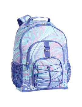 Gear Up Pink/Purple Marble Backpack by P Bteen