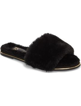 Rose Faux Fur Slide Sandal by Yosi Samra