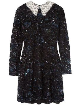 Wednesday Embellished Corded Lace Mini Dress by Ashish