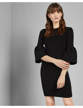 Bell Sleeve Bodycon Dress by Ted Baker