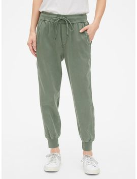 Mix Fabric Drawstring Joggers by Gap