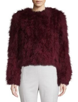 Feather Boxy Jacket by La Marque