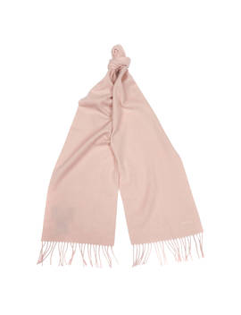 Barbour Plain Cashmere Scarf, Pink by Barbour