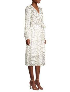 Katy Wrapped Silk Blend Dress by Milly